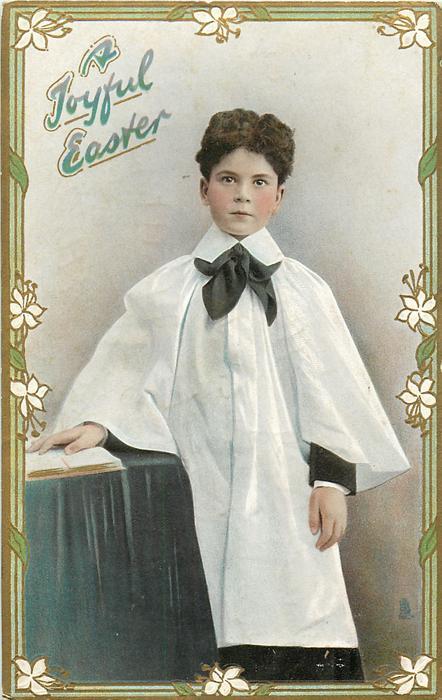 A JOYFUL EASTER  boy faces front
