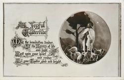 A JOYFUL EASTERTIDE  Jesus with sheep