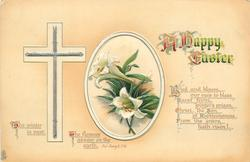 A HAPPY EASTER  Easter lilies