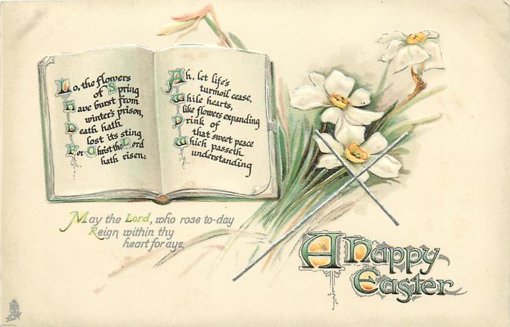 A HAPPY EASTER  (book) verse, narcissi