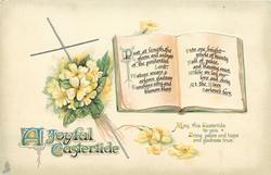 A JOYFUL EASTERTIDE  (book) verse, primroses