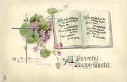 A PEACEFUL HAPPY EASTER  (book) verse, violets