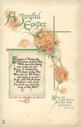 A JOYFUL EASTER  (scroll) verse, blossom