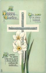 A HAPPY EASTER  bible quote, narcissi