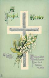 A JOYFUL EASTER  bible quote, lilies-of-the-valley