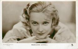 MADELEINE CARROLL  head & shoulder study, chin on hands, looking front