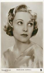 MADELEINE CARROLL  head & shoulder study, looking up & right