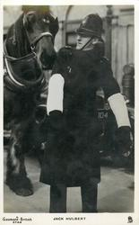 JACK HULBERT  as policeman, with horse