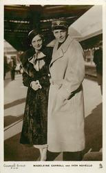 "MADELEINE CARROLL AND IVOR NOVELLO  ( ""in Sleeping Car"" ) man & woman at train station"