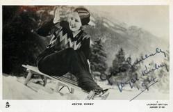 JOYCE KIRBY  on sledge