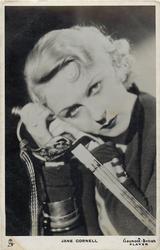 JANE CORNELL  holding sword