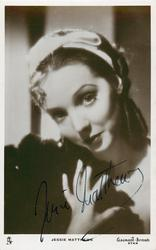 JESSIE MATTHEWS  her hand is on her chest