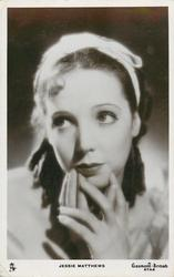 JESSIE MATTHEWS  head & shoulders, fingers under chin