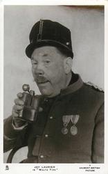 "JAY LAURIER IN ""WALTZ TIME""  he wears uniform, he is drinking"