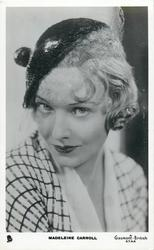 MADELEINE CARROLL  head & shoulder study, looking front