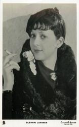 GLENNIS LORIMER  smoking, wearing fur