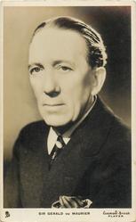 SIR GERALD DU MAURIER  faces slightly left, looks front/left