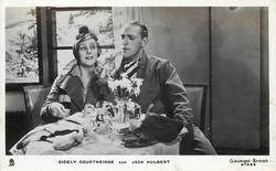 CICELY COURTNEIDGE AND JACK HULBERT  at tea table