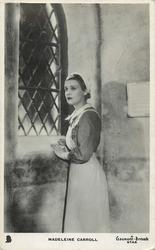 MADELEINE CARROLL  as nurse, looking out of window