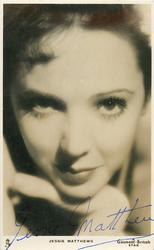 JESSIE MATTHEWS  close up of face