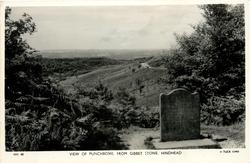 THE VIEW OF PUNCHBOWL FROM GIBBET STONE  prominent stone right