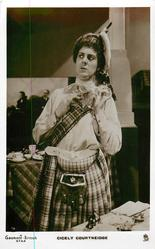 CICELY COURTNEIDGE  in kilt
