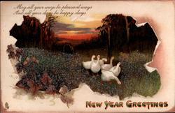 NEW YEAR GREETINGS  geese