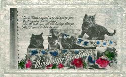 BIRTHDAY GREETINGS  four kittens
