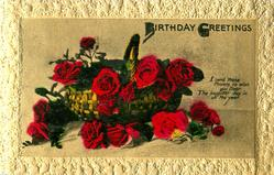 BIRTHDAY GREETINGS basket of roses