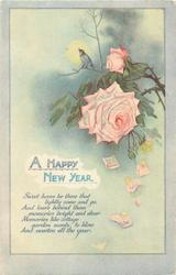 A HAPPY NEW YEAR  pink roses