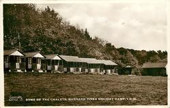 SOME OF THE CHALETS. GURNARD PINES HOLIDAY CAMP, I.O.W.