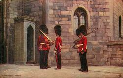 CHANGING GUARD  five guards