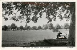 THE GREEN AND CRICKET PITCH