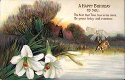 A HAPPY BIRTHDAY TO YOU  lakeside, cottage, lilies