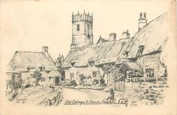 OLD COTTAGES & CHURCH