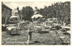 THE HOLLIES TEA GARDENS  lawn & sundial