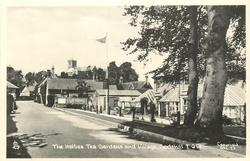 THE HOLLIES TEA GARDENS AND VILLAGE  buildings right