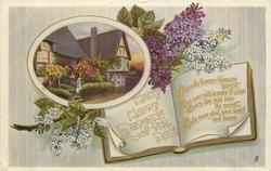 MANY HAPPY RETURNS OF THE DAY  lilac, cottage