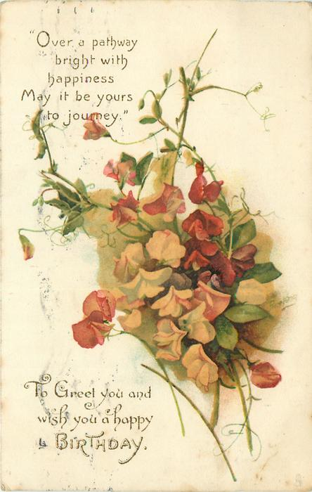 TO GREET YOU AND WISH YOU A HAPPY BIRTHDAY  sweet-peas