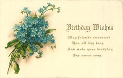 BIRTHDAY WISHES  blue forget-me-nots