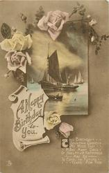 A HAPPY BIRTHDAY TO YOU  ships, roses