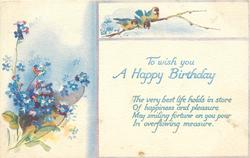 TO WISH YOU A HAPPY BIRTHDAY  forget-me-nots