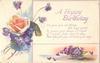 A HAPPY BIRTHDAY  rose & violets
