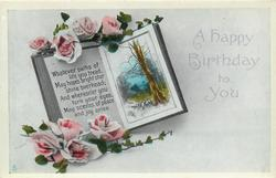 A HAPPY BIRTHDAY TO YOU  roses, book