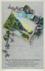 WITH EVERY GOOD WISH FOR YOUR BIRTHDAY  violets