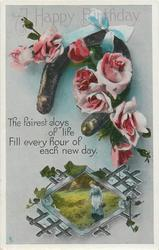 A HAPPY BIRTHDAY  roses, rural insert