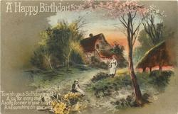 A HAPPY BIRTHDAY  rural scene