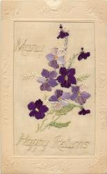 MANY HAPPY RETURNS  large insert, violets