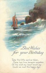 BEST WISHES FOR YOUR BIRTHDAY  seascape
