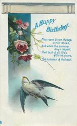 A HAPPY BIRTHDAY  swallow